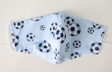Textilmaske Kinder: Fußball
